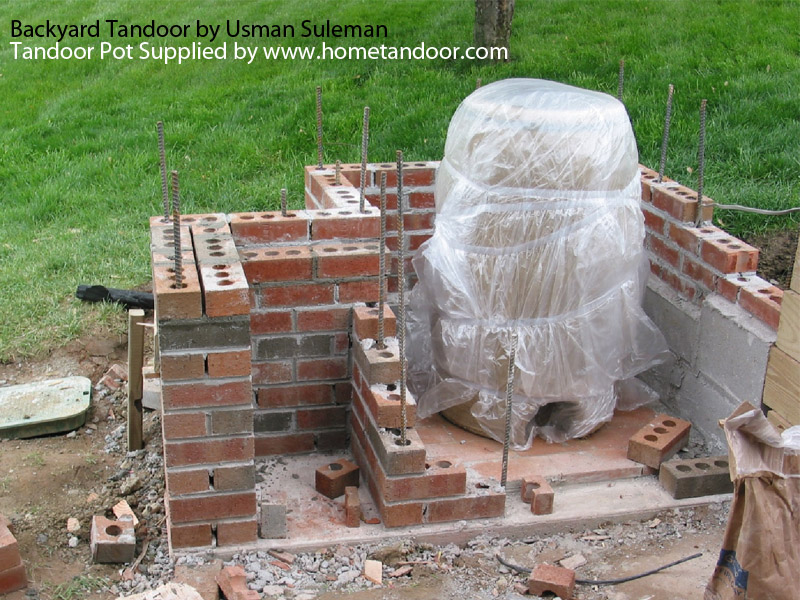 Backyard tandoori brick enclosure